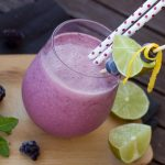 Strawberry Blueberry Smoothie With Banana and Yogurt Recipe