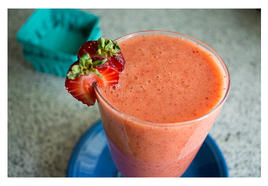 Strawberry Orange Smoothie With Real Oranges